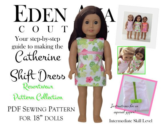 Eden Ava Couture Catherine Shift Dress Sewing by EdenAvaCouture