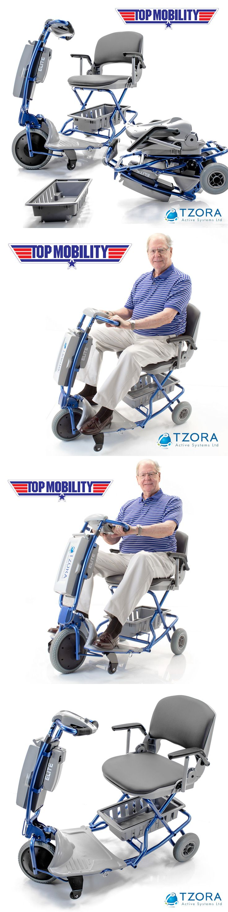 Mobility Scooters: Tzora Elite Easy Travel Folding Portable Mobility Scooter New + Free Accessories BUY IT NOW ONLY: $1578.0