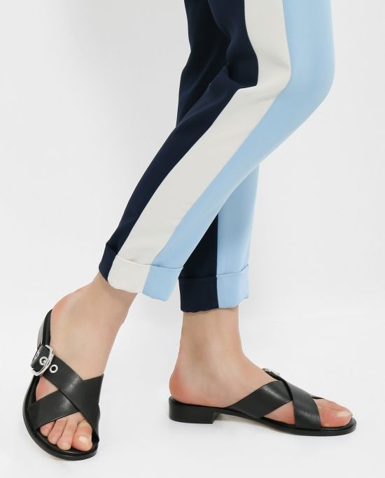 Купить сандалии из кожи от Michael by Michael Kors черные сандалии из кожи (269439) в интернет-магазине, цена на сандалии из кожи