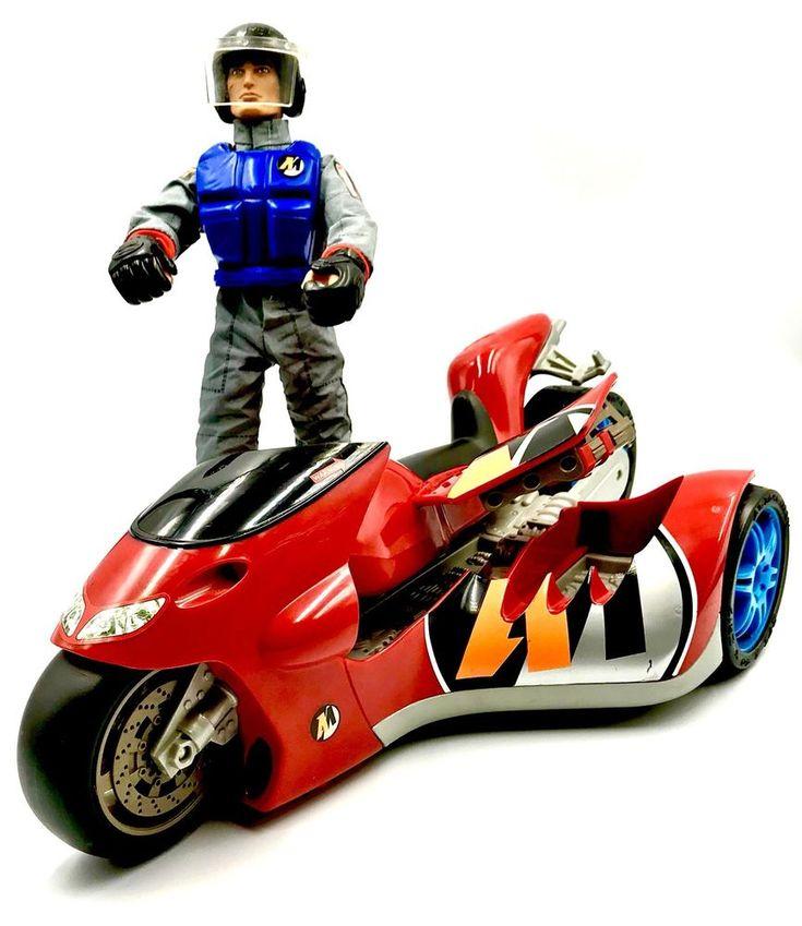 Action Man Bundle extreme Moto Bike & Figure racing Suit Glove Helmet Boots 2000