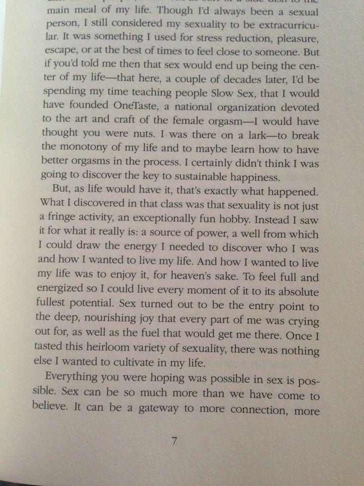 Excerpt from Nicole Daedone's book, Slow Sex