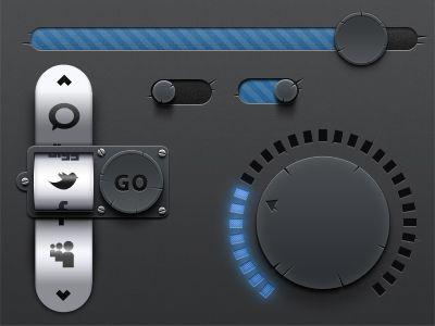 Derailed Mini UI Kit PSD