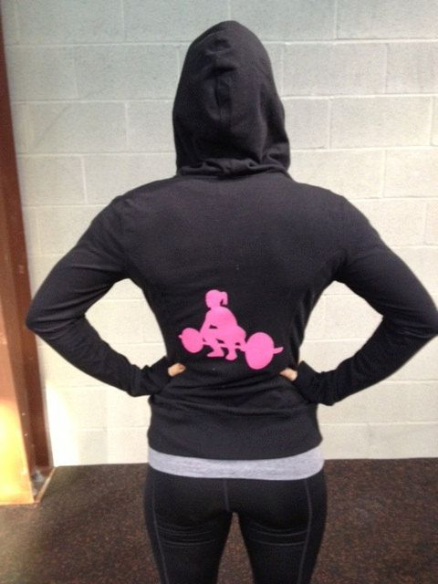 Large Black Crossfit Women's Hoodie by SparePatchProducts on Etsy, $40.00