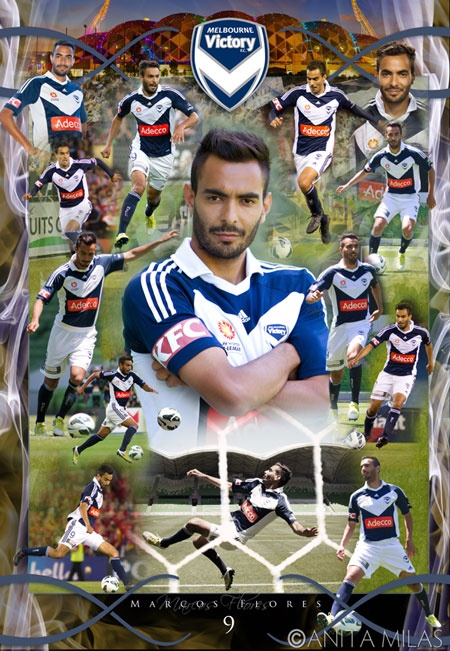 Latest collage of Marcos Flores of Melbourne Victory