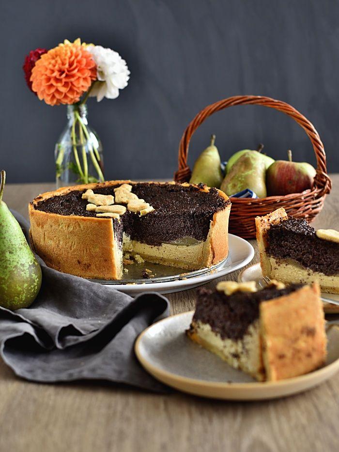 Pradobroty: Hruškový koláč s mákem a tvarohem