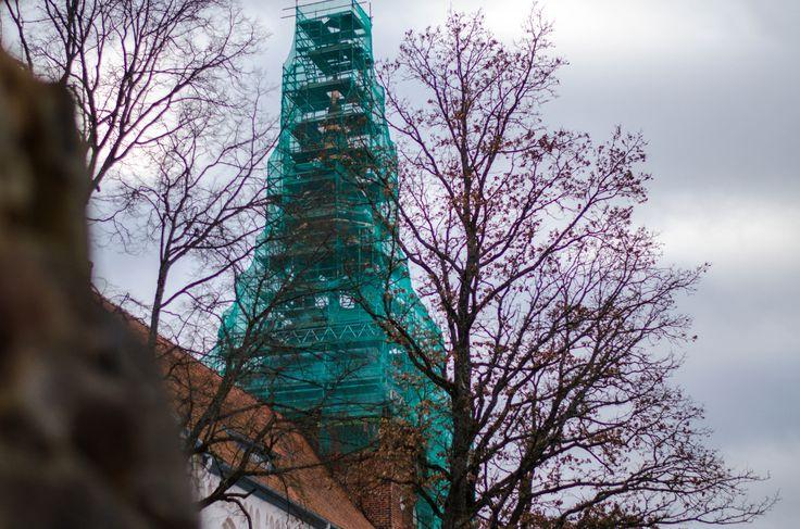 Valmieras church  #Valmiera #Latvia #Church #Tree #Spring