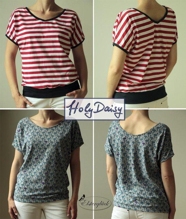 Oberteile & Jacken - eBook HolyDaisy Schnittmuster Sommer Damenshirt - ein Designerstück von Elsterglueck bei DaWanda