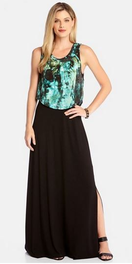 Gorgeous Colors! Karen Kane 'Rainforest' Tank Overlay Black and Teal Maxi Dress Fashion @Nordstrom #Black #Teal #Rainforest #Tank #Overlay #Maxi  #Dress # #Nordstrom #Fashion