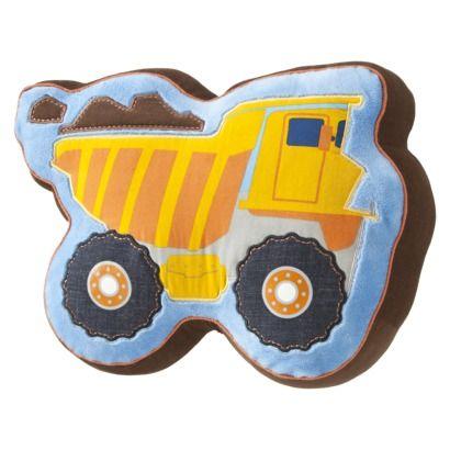 Dump Truck PillowBedrooms Sets, Boys Bedrooms, Kids Room, Big Boys, Throw Pillows, Decor Pillows, Trucks Pillows, Dump Trucks, Boys Room