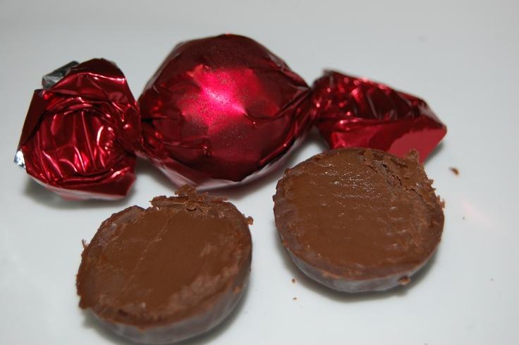 Praline Ball in Dark Chocolate  with Macadamia Cream Filling