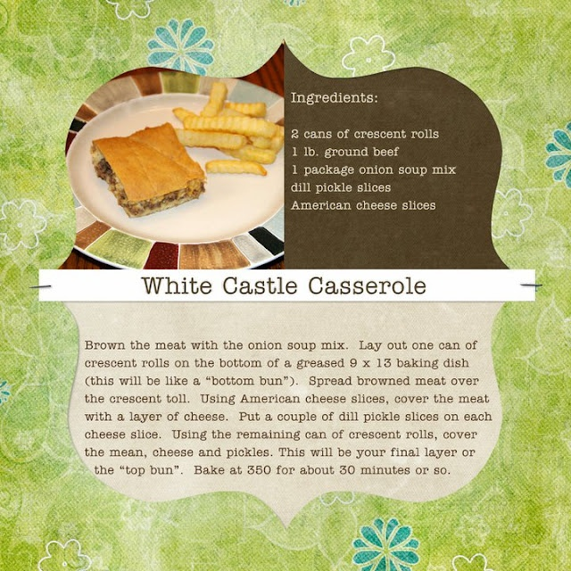White Castle Casserole..Tried this today & will be making it again. Yum