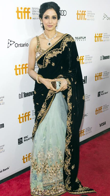 Veteran actress Sridevi and her stunning Sabyasachi sari #Bollywood #Fashion