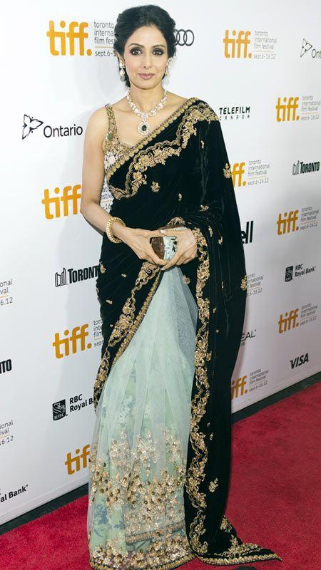Veteran actress Sridevi and her stunning Sabyasachi sari #Bollywood #Fashion