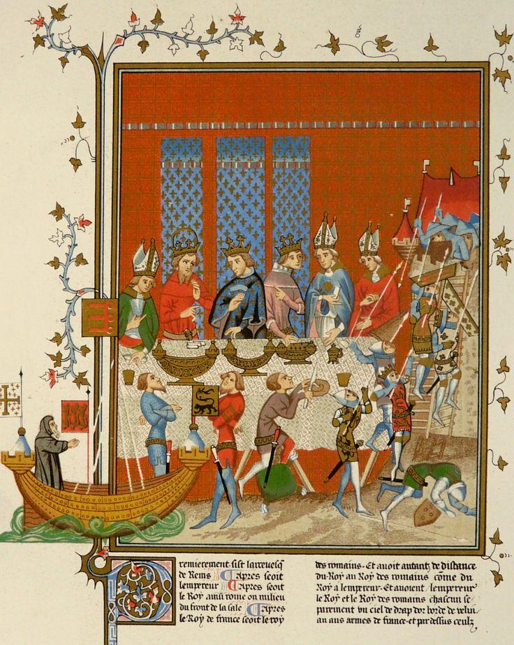 1851 Antique print средневековья украшения. от AntiquePrintsOnly