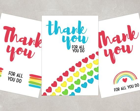 Thank You Keyworkers Card Thank You Nhs Teachers Postman Etsy In 2020 Business Thank You Cards Custom Gift Cards Small Business Cards