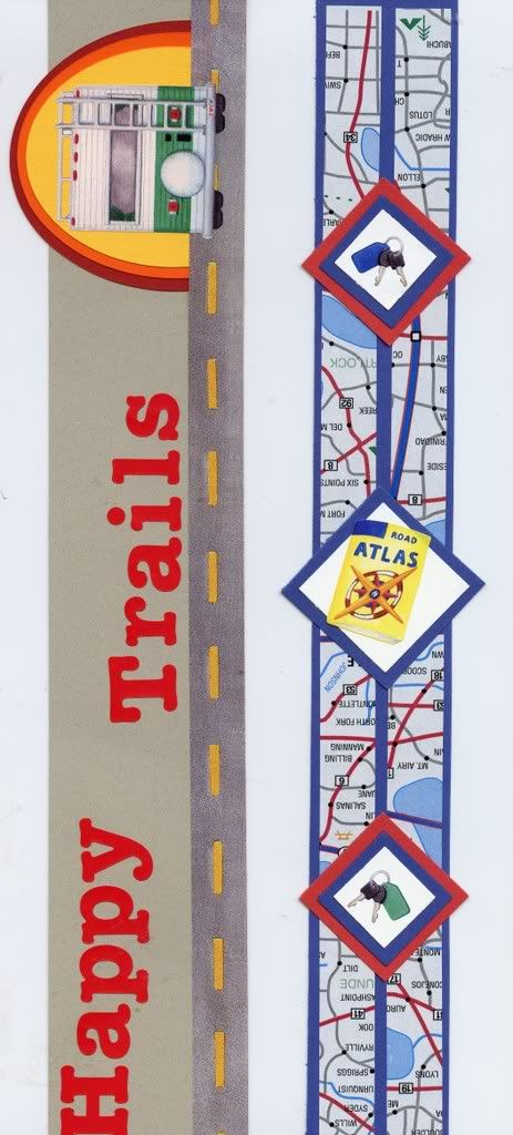 Travel borders--use up old Creative Memories stickers