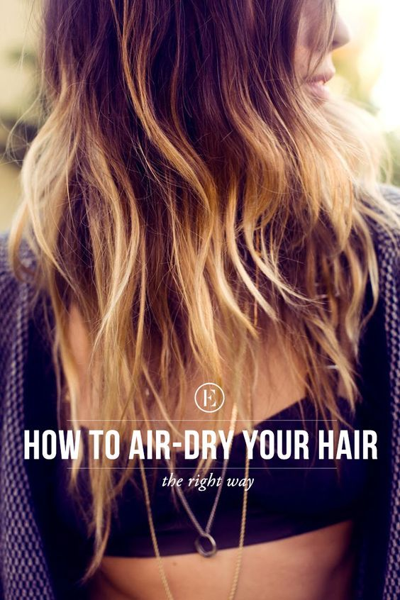 Beach Hair 101: The Right Way to Air Dry Your Hair #theeverygirl