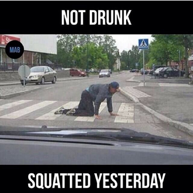 Not drunk, squatted yesterday #fitness #motivation