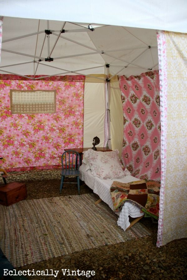 A Day at the Country Living Fair 2013 - a glamping tent. Love Love - wouldn't a picnic be fun in there!
