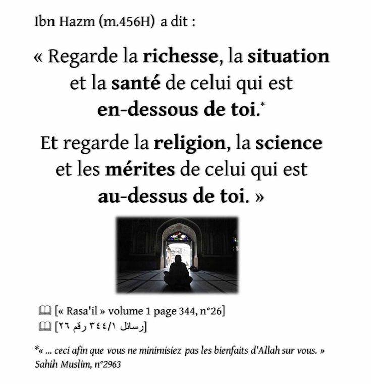 ... ceci afin que vous ne minimisiez pas les bienfaits d'Allah que vous.sahih Muslim n*2963 qu'Allah nous pardonne et nous raffermisse