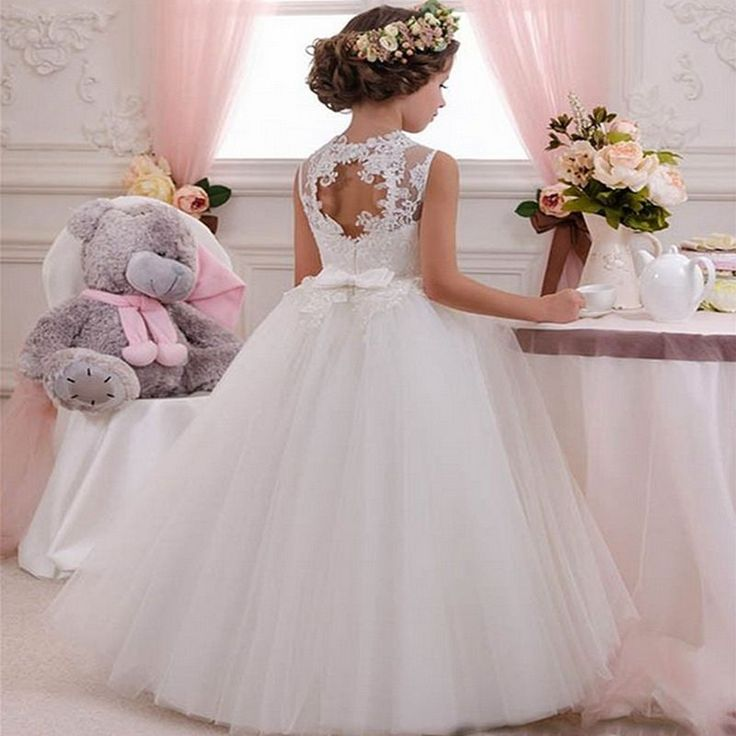 Flower Girl Dresses Vintage Pageant Dresses For Girls Beautiful Tulle Baby Girl  #CHILD1234567891011121314