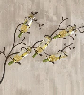 hang a budding bough across your wallour branch metal wine rack is a work - Metal Wine Rack