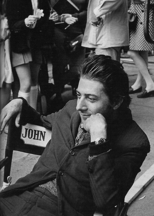 Dustin Hoffman on the set of Midnight Cowboy