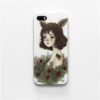 Hand Draw Design iphone 5/5s Case (Forest Spirit IV)