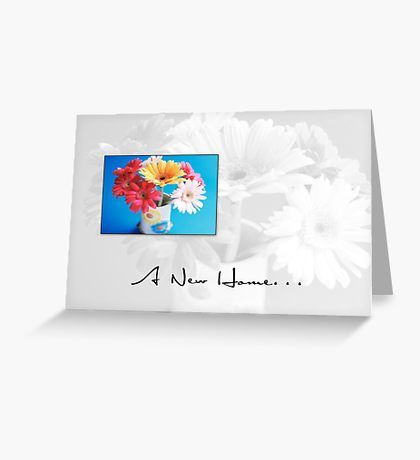 New Home Congratulations Flowers Greeting Card