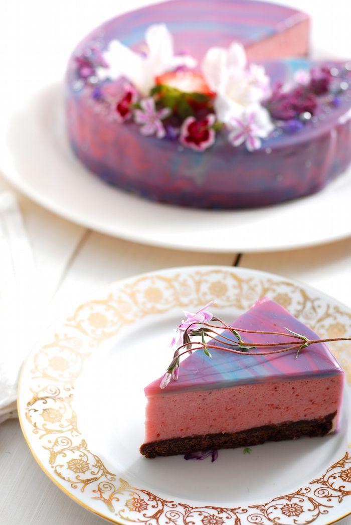 zrcadlová poleva na dort