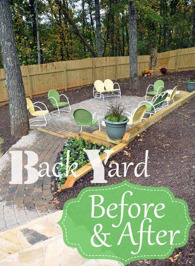 Backyard Garden Ideas Before And After best 20+ yard before and after ideas on pinterest | cheap pergola