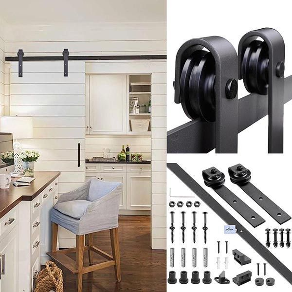 6'' ~$50 each (we'd need two)    Other types of Sliding Barn Door Hardware are also available on our store! This 6' Barn Door Hardware Set comes with all necessary hardware for hanging the door that can...