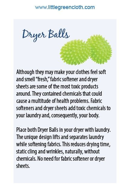The Norwex Dryer Balls reduce your drying time, and leave clothes softer and less wrinkly.  They are a great alternative to traditional fabric softeners.