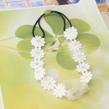 1PC Chrysanthemum Květinové čelenka dívky Floral Elastic Hair kapela Dětská čelenka vlasy příslušenství (Čína (pevninská část))