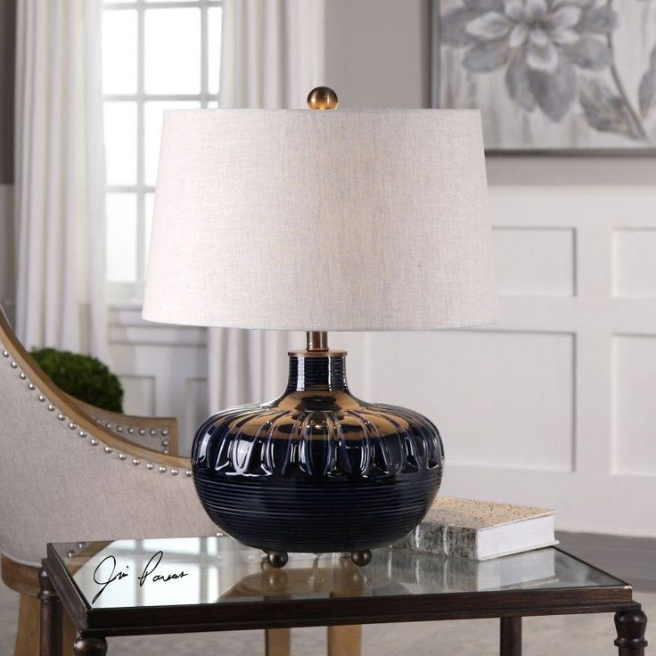 uttermost levane midnight blue table lamp