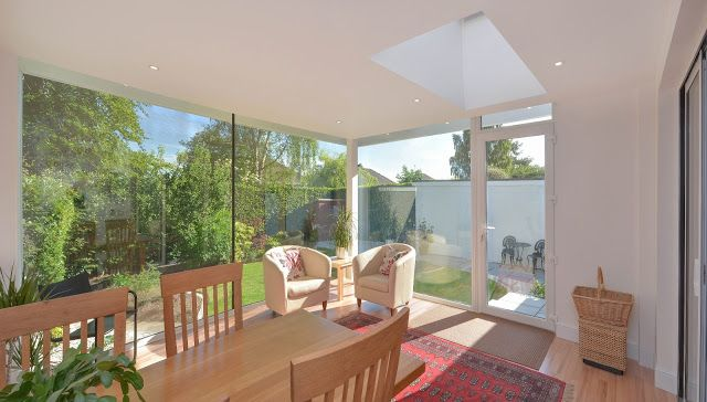 Contemporary garden room barnton edinburgh designed by for Modern garden room extensions