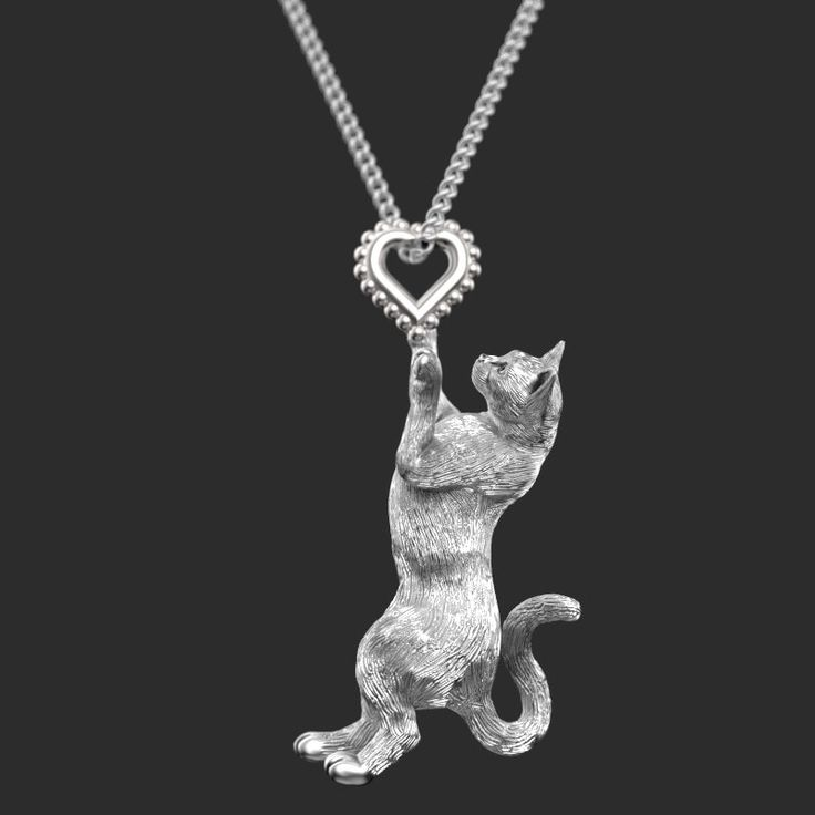 Handmade CAT Jewelry.  Sterling Silver pendant and necklace. Great for all the Cat and Pet Lovers by TinyBling on Etsy https://www.etsy.com/listing/204814961/handmade-cat-jewelry-sterling-silver
