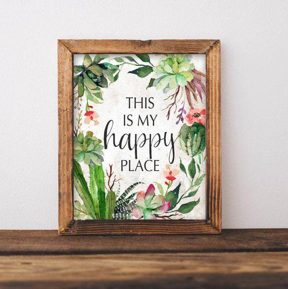 Das ist mein happy Place - 8 x 10 Zoll druckbaren Kunst  Wandkunst macht ein Gefühl Zuhause gemütlich! Preiswerte Wandkunst macht die Brieftasche glücklich!  Nach dem Kauf werden Sie sofort das digitale Bildmaterial von Etsy herunterladen. Wie einfach das ist?!? Sie erhalten eine JPEG-Datei. Dies soll ein 8 x 10 print sein.  Lokalen oder online-Druckereien bieten beste Druckqualität, aber Sie können immer nur von zu Hause ausdrucken!  Das ist für einen digitalen Download-nichts wird…