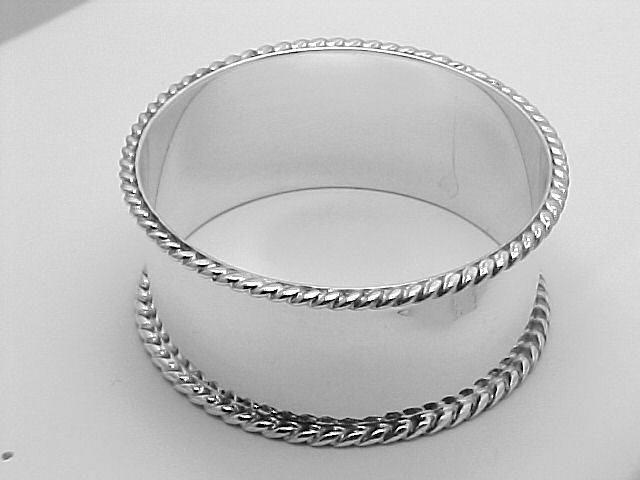 Round Silver Napkin Ring - Rope Edge $113.50