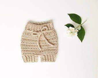 Pantalones cortos de bebé de ganchillo / / bombacho bebé, pantalones bombachos, shorts, de punto de punto pantalones cortos de bebé de ganchillo, ganchillo bloomers, cubierta de pañal