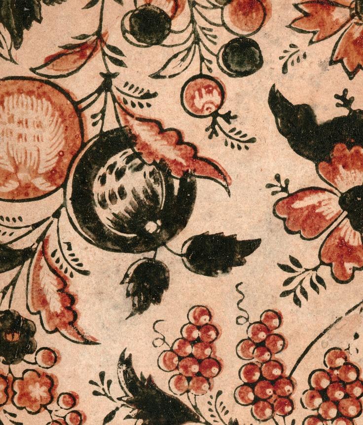 Vintage 18th c. paste paper, prints in paste