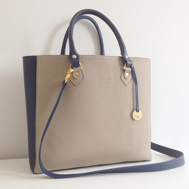 Naomi shopper bag  #nonou #bags #naomi #torebka #leather #skóra #granat #oliwka #big #shopper #beauty #woman #kobieta #followme #torba #blue #beige #love #shopping #design, #create