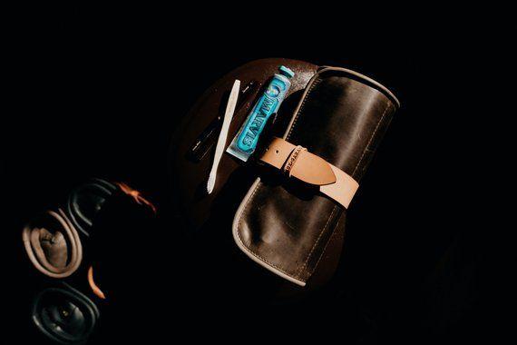 e563af53b0 Leather Toiletry bag Travel Wash roll by Kruk Garage Dopp kit Hanging wash  bag Barber toiletry Trave