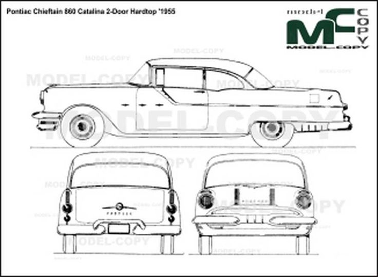 Pontiac Chieftain 860 Catalina 2-Door Hardtop '1955
