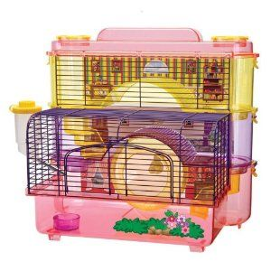 """Penn Plax 3-Story Doll Hamster Homes by Penn-Plax. $49.37. Your hamster will feel like the ultimate princess in this Three Level Home. Made functional for any where in you home; Playful colors make this Doll Hamster Home come to life. Doll Hamster Home measures 10.50""""D x 16.50""""W x 11.00H; Weighing a little over 6lbs. Small Animal Doll Hamster Homes. Resembles a doll house with its beautiful colors pink and purple. This Home Sweet Home unit includes 3 stories of hamster..."""