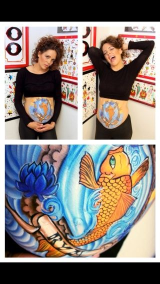Tattoo Inspired Baby Bump  Face Paint Fantasy Pinterest