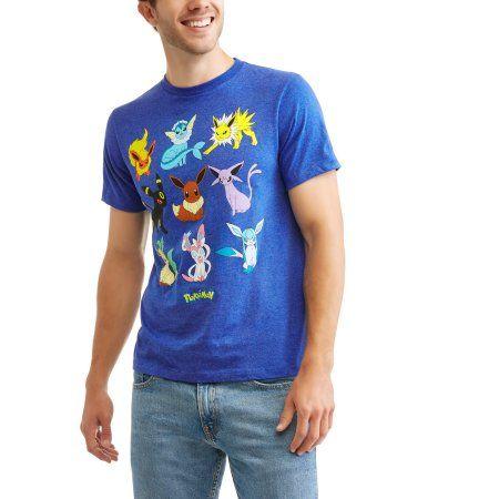Pokemon Men's Eevee Evolutions Graphic T-Shirt, Blue