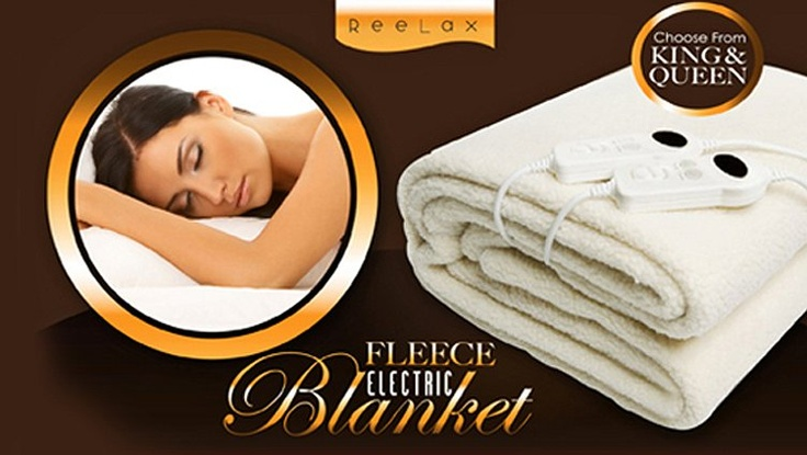 Win Win Deals! - Snuggle Up with a King Size Reelax Fleece Electric Blanket for Just $109 - Including Delivery! Worth $349. Also Available in Queen Size for $99!