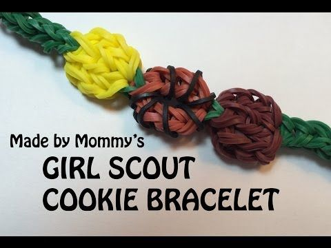 ▶ Girl Scout Cookie Bracelet on the Rainbow Loom - YouTube