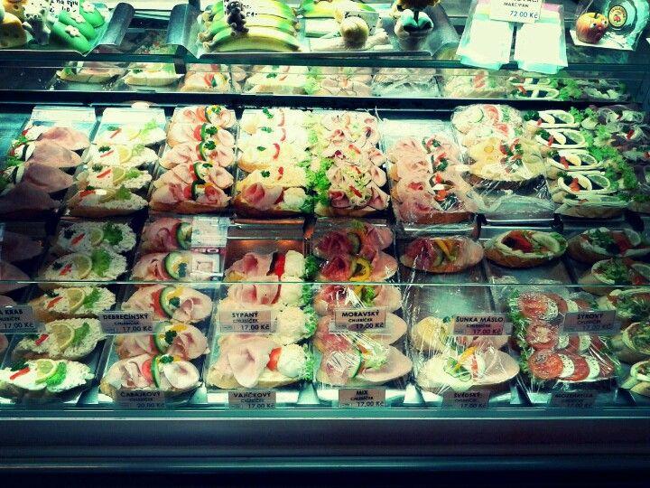 Prague open sandwich shop
